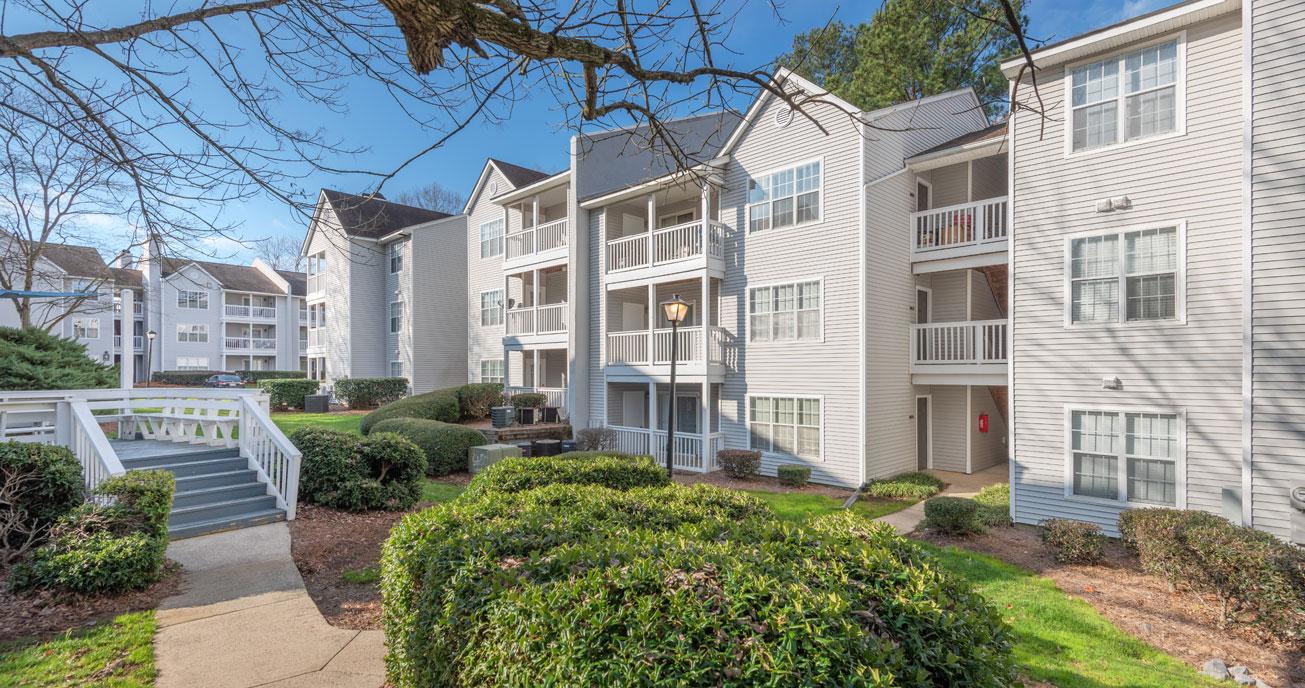 exterior view of apartment complex, magnolia terrace, charlotte nc