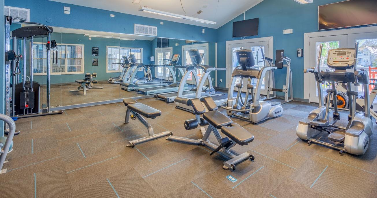gym equipment, magnolia terrace, charlotte nc